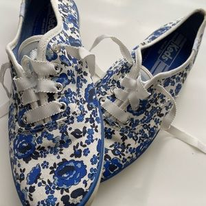 Blue and White Keds Sneakers